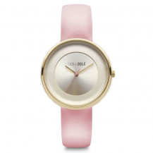 Tick and Ogle Pastel Cream Leather Women's Watch - Cream/Pink