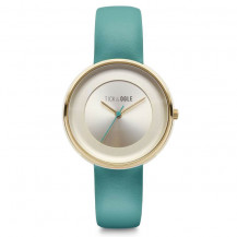 Tick and Ogle Pastel Cream Leather Women's Watch - Cream/Turquoise