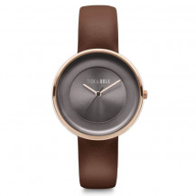 Tick and Ogle Rose Delight Leather Women's Watch - Grey/Brown