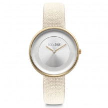 Tick and Ogle Safari Canvas Women's Watch - Gold/Beige