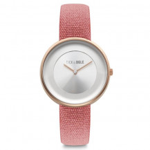 Tick and Ogle Safari Canvas Women's Watch - Rose Gold/Red