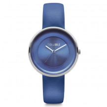 Tick and Ogle Solid Leather Women's Watch - Blue