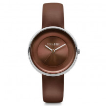 Tick and Ogle Solid Leather Women's Watch - Brown