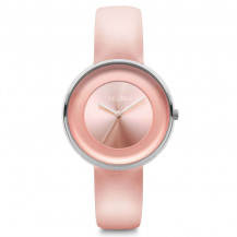 Tick and Ogle Solid Leather Women's Watch - Pink