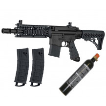 Tippmann TMC Paintball Marker with 12oz CO2 Cannister - Black