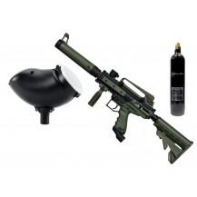 Tippmann Cronus Tactical Semi-Automatic .68 Caliber Paintball Marker + 200 Round Hopper + 20oz Co2 Cylinder Combo - Olive