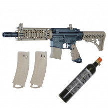 Tippmann TMC Paintball Marker with 12oz CO2 Cannister - Black/Tan