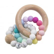 Tobbie & Co Muncher Teething Rattle - Rainbow