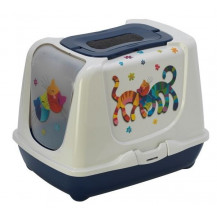 McMac Trendy Cat Friends Forever Litter Box - Blue Berry