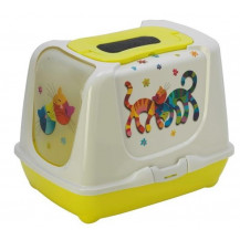McMac Trendy Cat Friends Forever Litter Box - Lemon Yellow