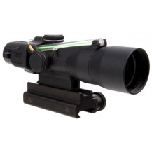 Trijicon 3x30 Compact ACOG Scope - Dual Illuminated, Green Chevron .223/62gr Ballistic Reticle