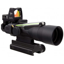 Trijicon ACOG 3x30 Compact Scope w/ 3.25 MOA RMR Red Dot - Dual Illuminated, Green Horseshoe Dot 5.56x45mm/62gr Ballistic Reticle
