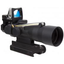 Trijicon ACOG 3x30 Compact Scope w/ 9.0 MOA RMR Amber Dot - Dual Illuminated, Amber Chevron .223 Ballistic Reticle