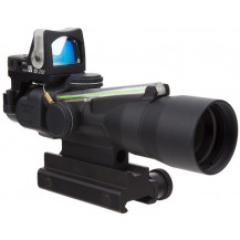 Trijicon ACOG 3x30 Compact Scope w/ 9.0 MOA RMR Green Dot - Dual Illuminated, Green Chevron .223 Ballistic Reticle