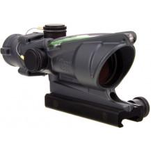 Trijicon ACOG 4x32 Scope - Dual Illuminated, Green Chevron .223  Ballistic Reticle, Cerakote Sniper Grey