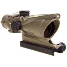 Trijicon ACOG 4x32 Scope - Dual Illuminated, Green Crosshair .223  Ballistic Reticle, Cerakote Dark Flat Earth