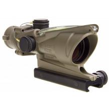 Trijicon ACOG 4x32 Scope - Dual Illuminated, Green Crosshair .223 Ballistic Reticle, Cerakote OD Green