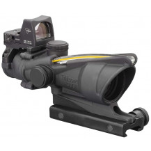 Trijicon ACOG 4x32 Scope w- 3.25 MOA RMR Type 2 Sight - Dual Illuminated, Amber Crosshair .223 Ballistic Reticle