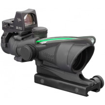 Trijicon ACOG 4x32 Scope w- 3.25 MOA RMR Type 2 Sight - Dual Illuminated, Green Crosshair .223 Ballistic Reticle