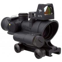 Trijicon ACOG 4x32 Scope w - 3.25 MOA RMR Type 2 Red Dot Sight - LED Illuminated, .223 Red Crosshair Reticle