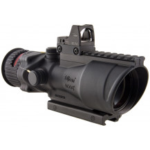 Trijicon ACOG 6x48 Machine Gun Optic w/ 6.5 MOA RMR Type 2 Sight - Dual Illuminated, Red Chevron .223 Ballistic Reticle