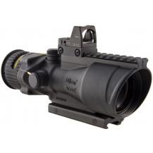 Trijicon ACOG 6x48 Machine Gun Optic w/ 6.5 MOA RMR Type 2 Sight - Dual Illuminated, Amber Chevron .223 Reticle