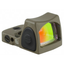 Trijicon RMR Type 2 Adjustable LED Sight - 3.25 MOA Red Dot, Cerakote Flat Dark Earth
