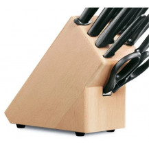 Victorinox 9 Piece Knife Block - Beech Wood