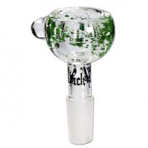 Black Leaf Glass Bowl - 4mm Intake Hole, SG 14