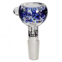 Black Leaf Glass Bowl - 4mm Intake Hole, SG 19