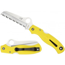 Spyderco Atlantic Salt Yellow Handle Spyder Knife - C89SYL
