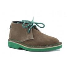 Veldskoen Kids Cooper The Croc Shoe - Green Sole, UK Size 7
