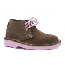 Veldskoen Kids Harper The Hippo Shoe - Pink Sole, UK Size 3
