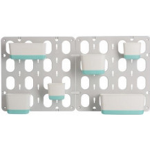 Modular Wall Garden System With Pots - Turquoise