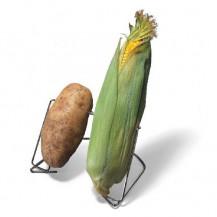 Weber Corn & Tator Double Rack (In Use)