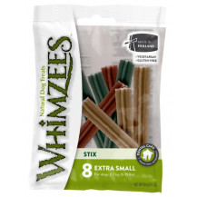 Whimzees Stix Dental Dog Treats Flow Pack - Extra Small, 8 piece x 2