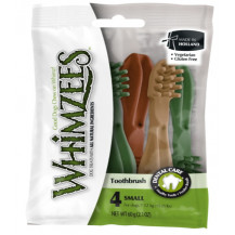 Whimzees Toothbrush Natural Daily Dental Dog Treats - 4 Pack, Small