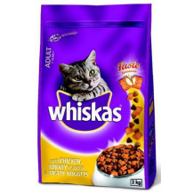 WHISKAS CAT FOOD MEATY NUGGET 2KG CHICKEN TURKEY