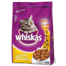 Whiskas Meaty Nugget Cat Food - Chicken & Turkey, 4kg