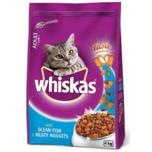 Whiskas Meaty Nuggets Cat Food - Ocean Fish, 4kg