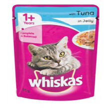 Whiskas Cat Food in Jelly Pouch - Tuna, 85g x 48