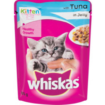 Whiskas Tuna in Jelly Kitten Food Pouch - 85g x 48