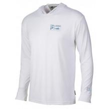 Pelagic Aquatek Hoodie Fishing Youth Shirt - White