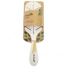Bio Brush Eco Friendly Detangler Brush - Leaf Shape, White
