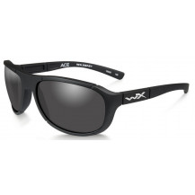 Wiley X Ace Glasses - Smoke Grey, Matte Black Frame - Front View