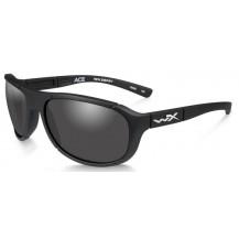 Wiley X Ace Glasses - Smoke Grey, Matte Black Frame - Front View