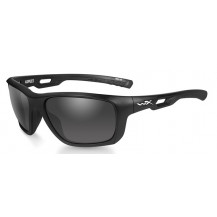Wiley X ASPECT Smoke Grey Matte Black Frame - Front View