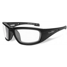 Wiley X Boss Glasses - Clear, Matte Black Frame - Front View