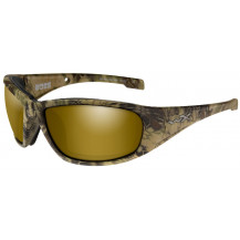 Wiley X Boss Glasses - Pol Amber Gold Mirror, Kryptek Highlander Frame - Front View
