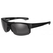 Wiley X COMPASS Smoke Grey Matte Black Frame - Front View